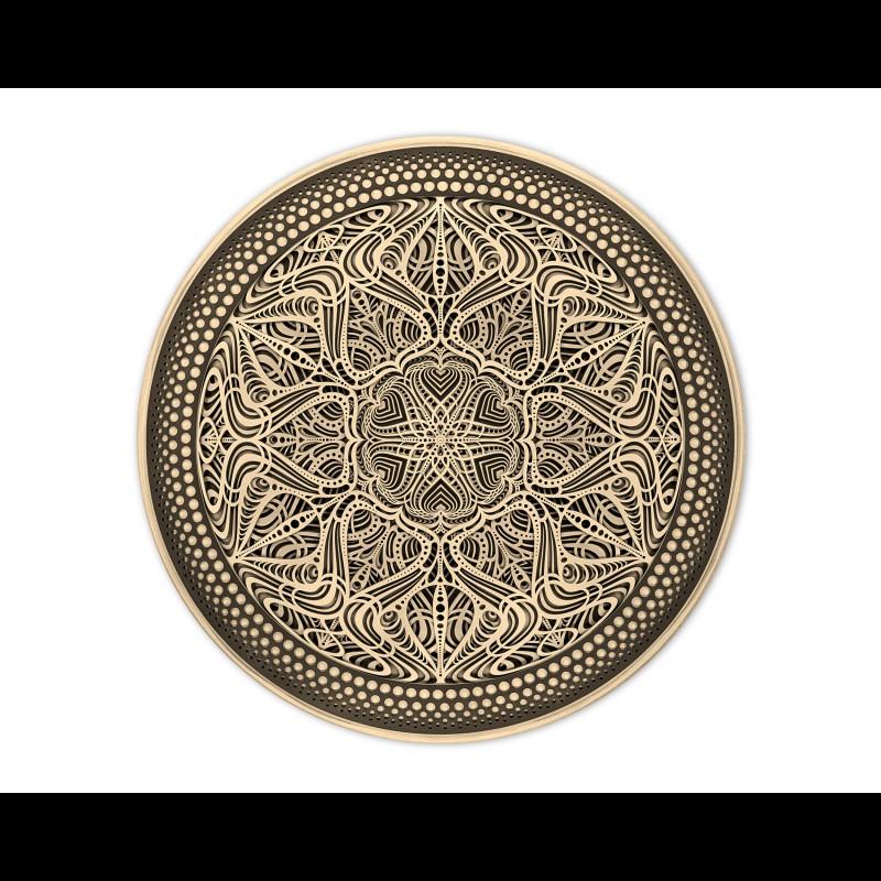"Sacred Geometry Wood Wall Art ""Sonata"", 5 layers"