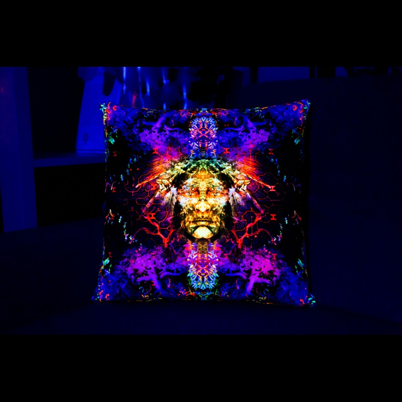"Psychedelic Bedding Bohemian Pillow  ""Soul keeper"""