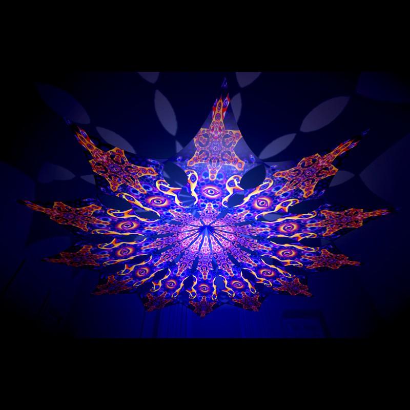 Stunning fairy-tale ceiling decor Abracadabra - 12 petals.