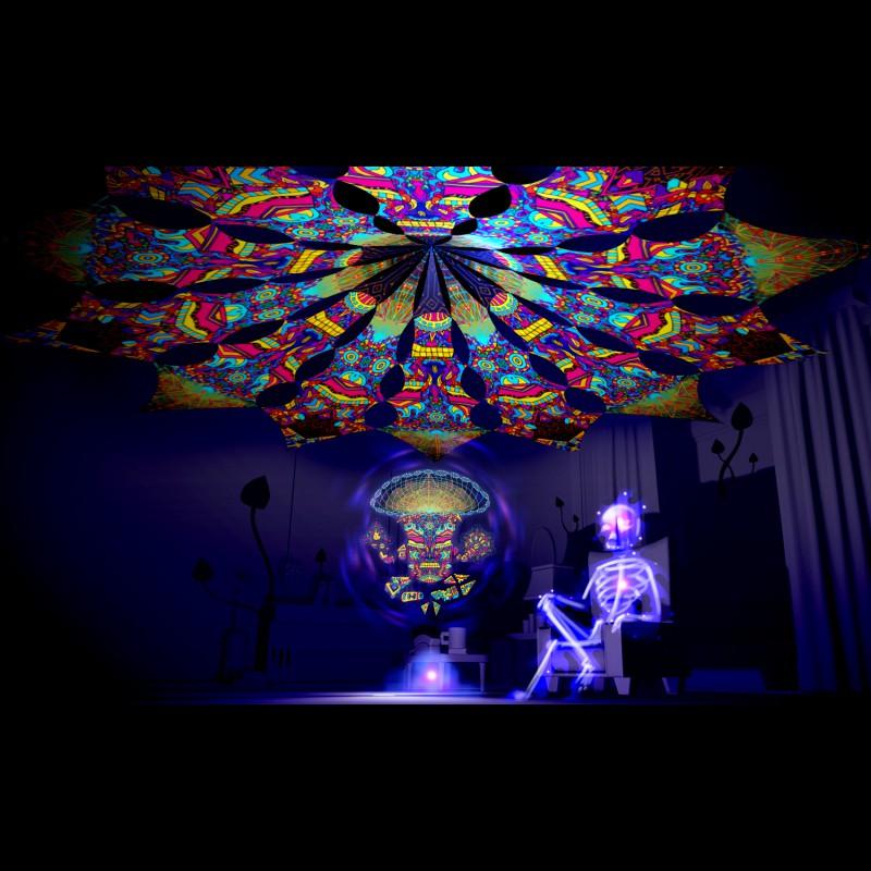 Magic Mushroom God Spiritual decorations - 12 petals set.