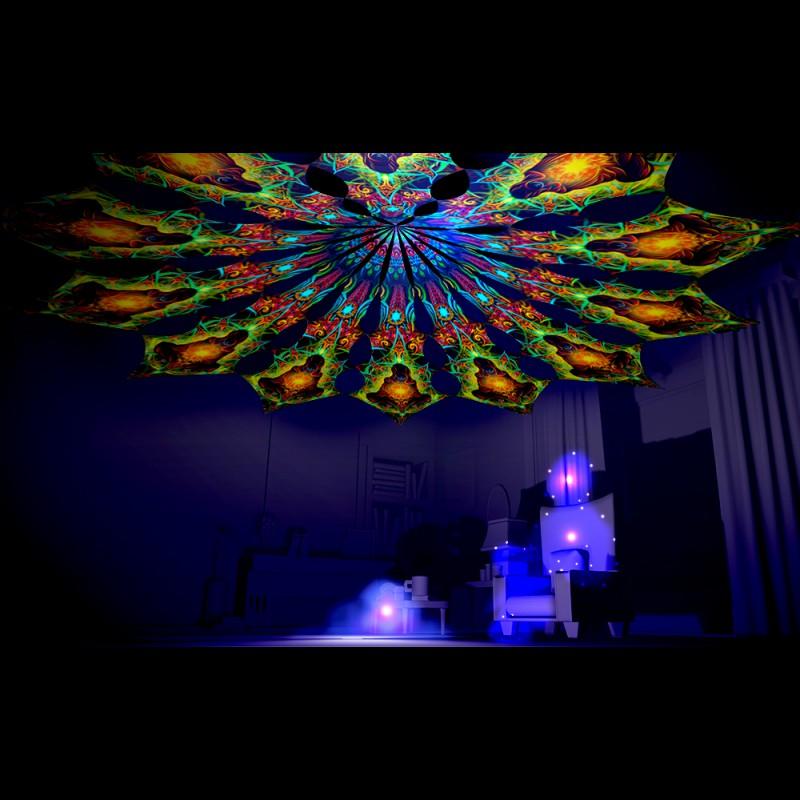 Fascinating blacklight decor Reincarnation 2 - a set of 12 petals.