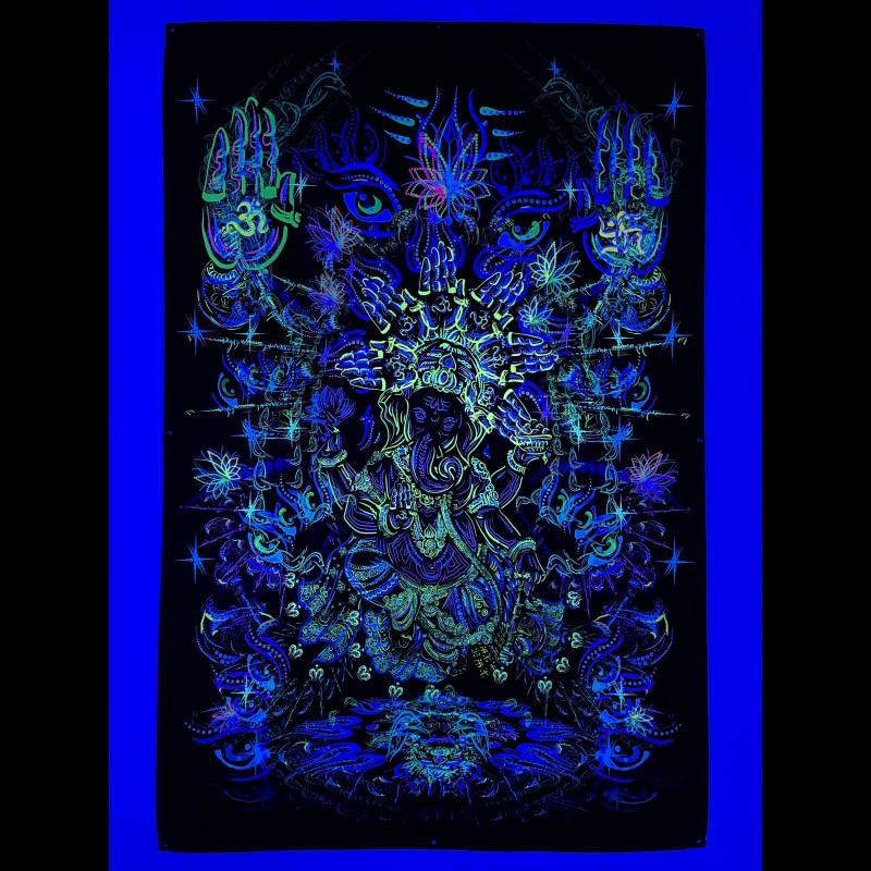 """Fluorescent backdrop """"Sacred Ganesh"""""""