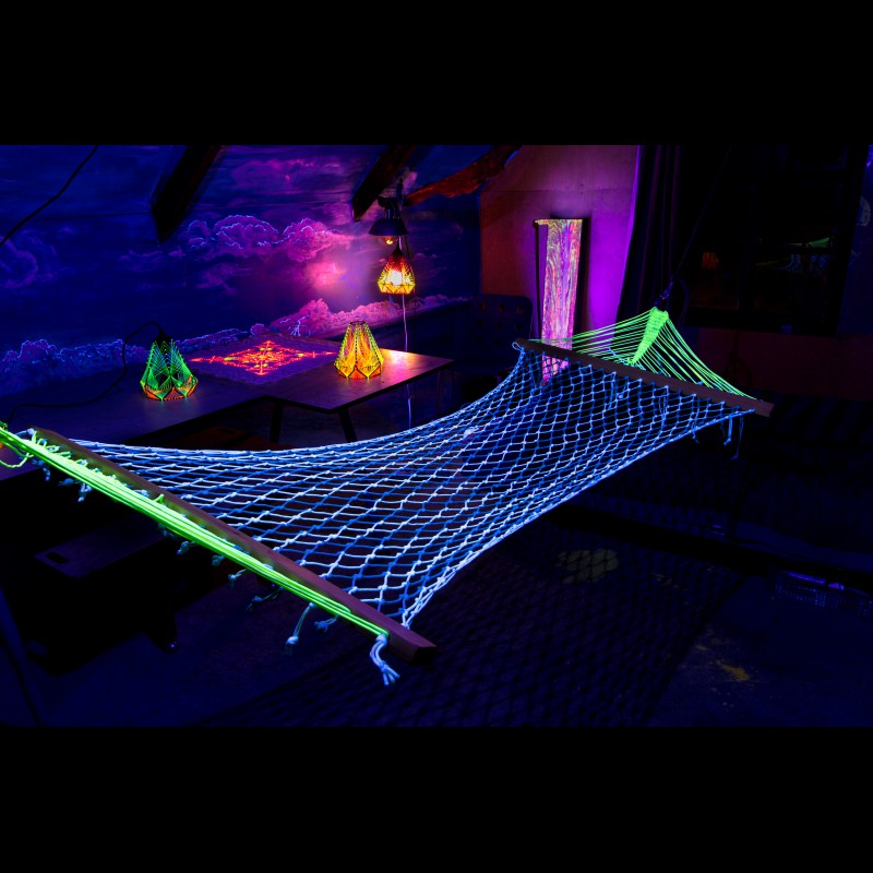 Indoor and outdoor hammock, trippy home décor «Relax Power»