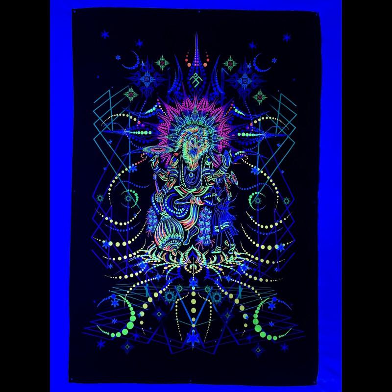"Fluorescent luminous backdrop ""Narasimha"""
