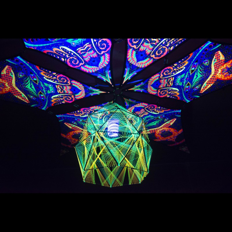 Table or pendant UV geometric lamp «Fractal Sphere»