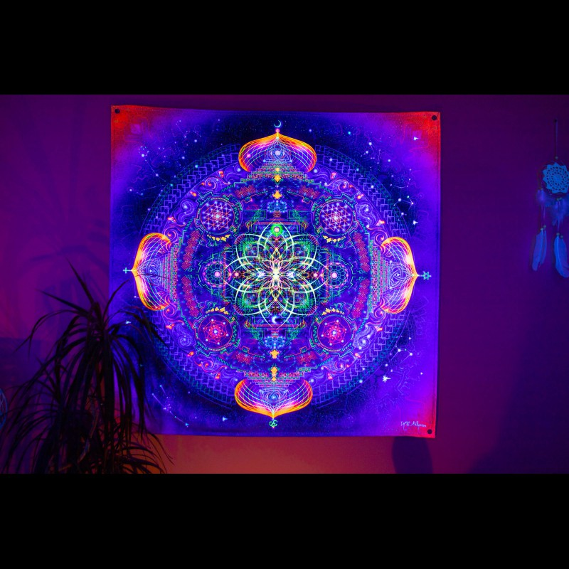 Trippy Psychedelic Tapestry «Divine Portal»