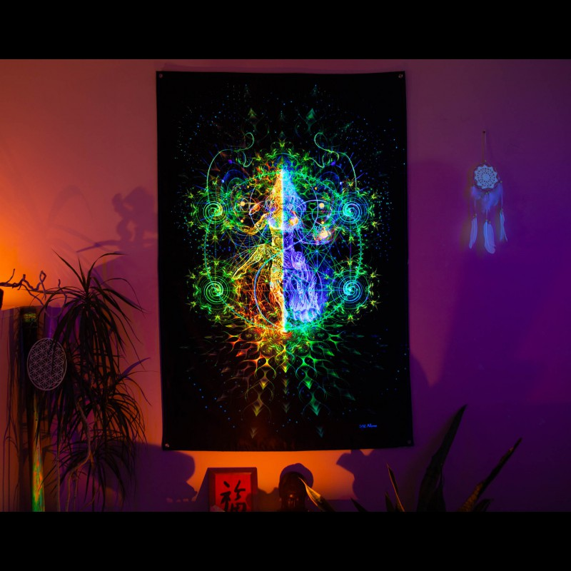 Blacklight UV Backdrop «Nataraja»
