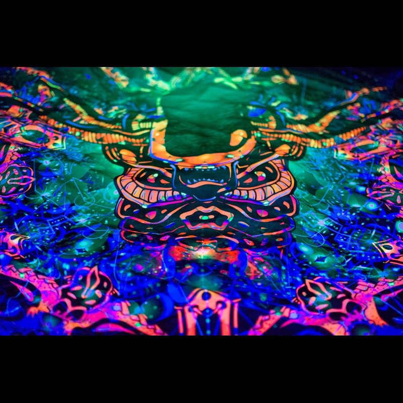 UV Psychedelic Tapestry «Alien Enlightment»