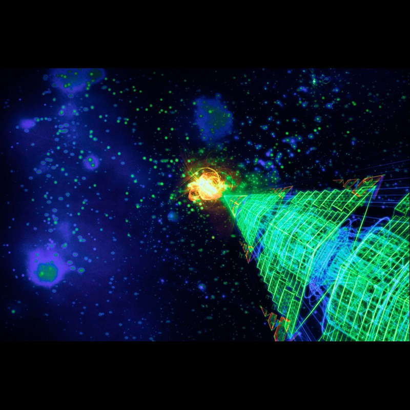 Blacklight Active Backdrop «Cosmic Anahata»