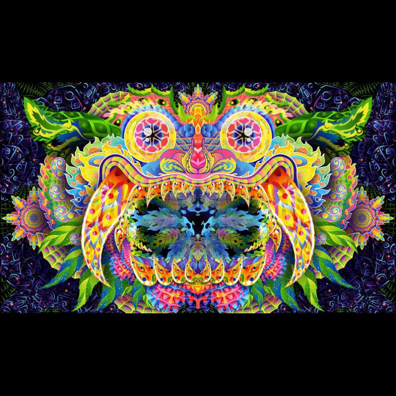 Psychedelic Tapestry Hippie Room Decor «Barong»