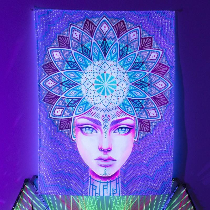 Glowing boho painting «Inside view»