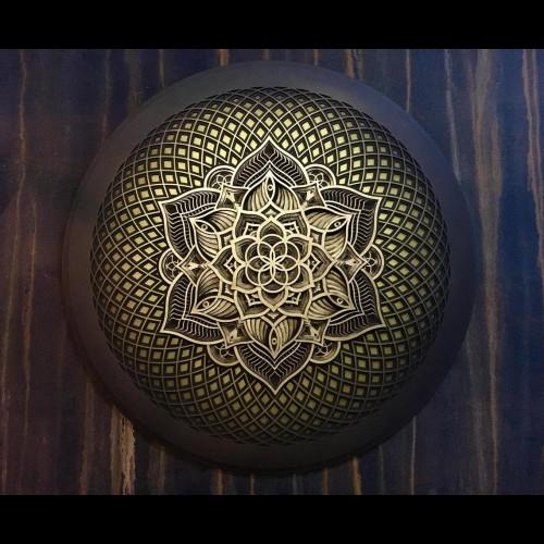 "Mandala Wall Wood Deco ""Flower of Life"" 13 layers"