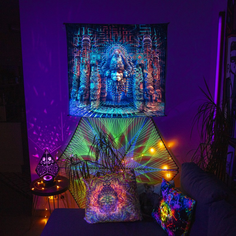 Festival fluorescent backdrop tripvision «Templum Oraculum»