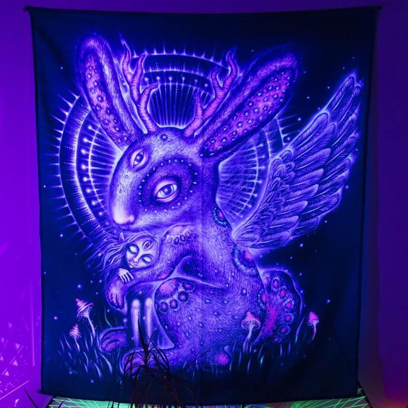 Blacklight active trippy wall art «Volpintinger»