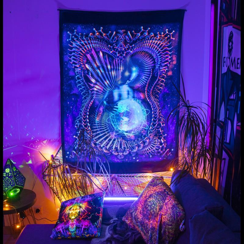 Fluorescent in ultraviolet spiritual art «Gaia Healing»