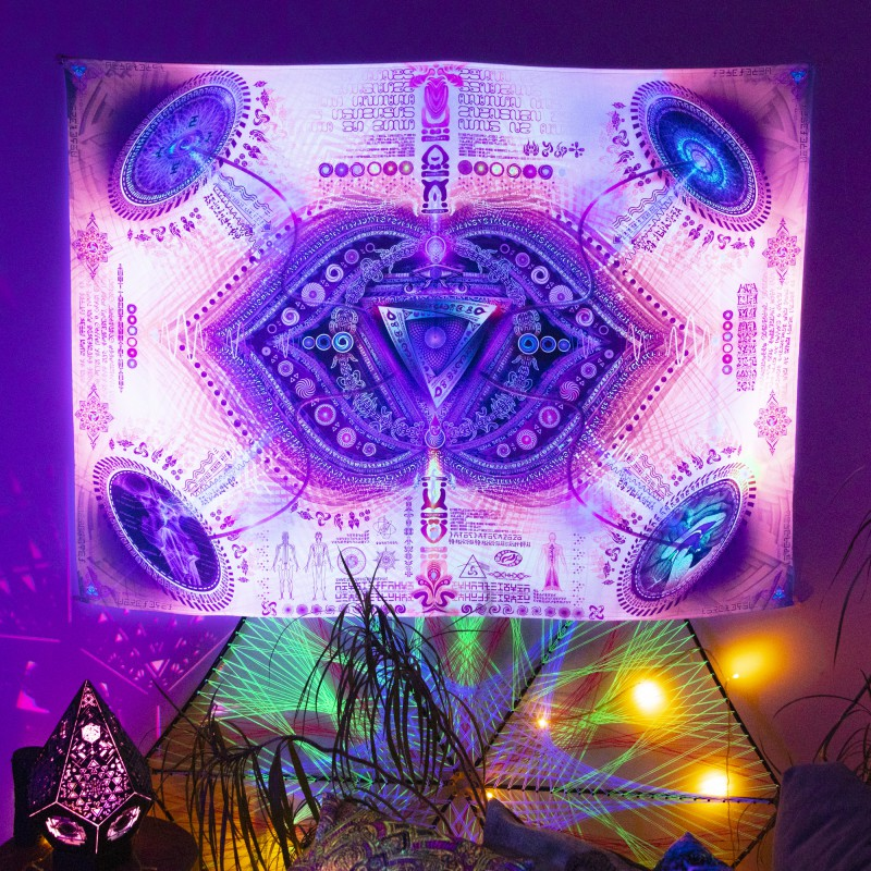 UV-backdrop «Bio Energetic Vortexes 6 - See Ajna Chakra»