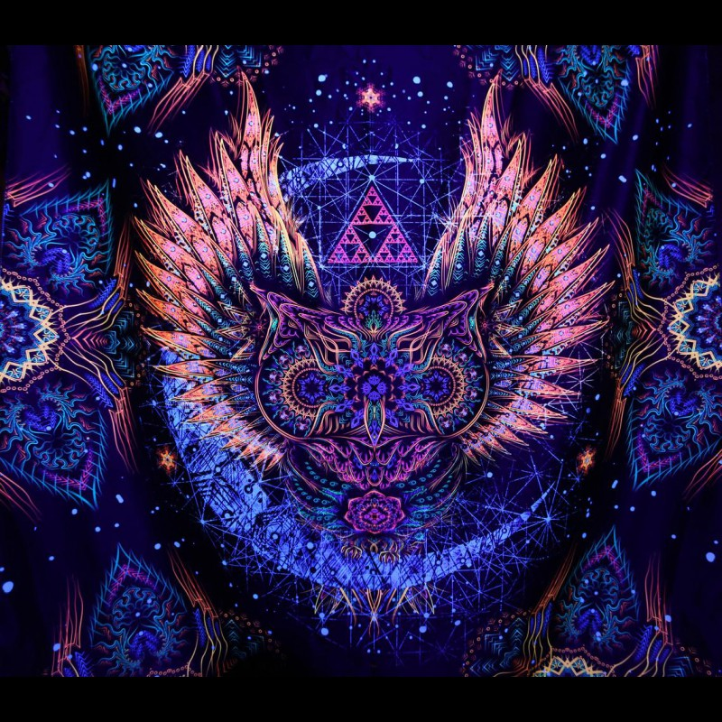 "Fractal wall hanging UV-décor ""INSOMNIA"""