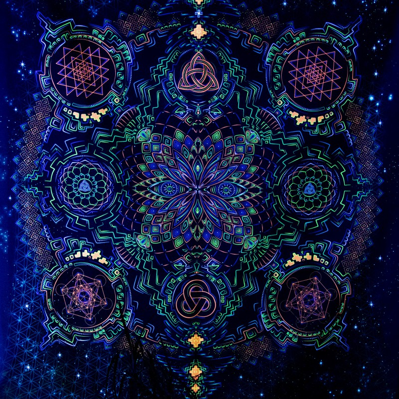 Fractal Mandala UV-backdrop «Retu sepra mandala»