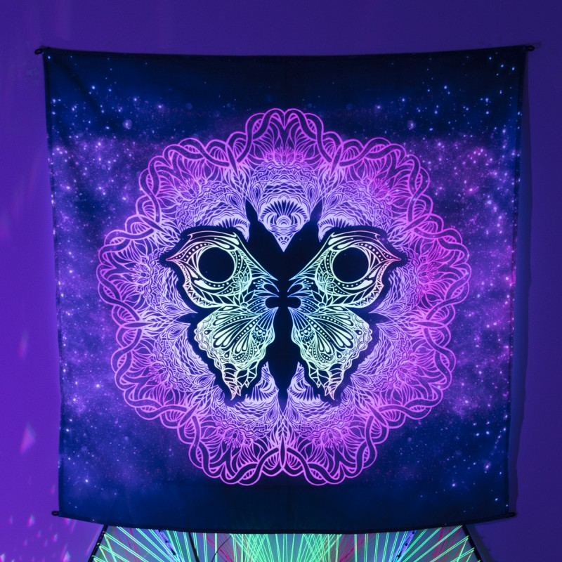 Fluorescent painting «Fractal Butterfly»