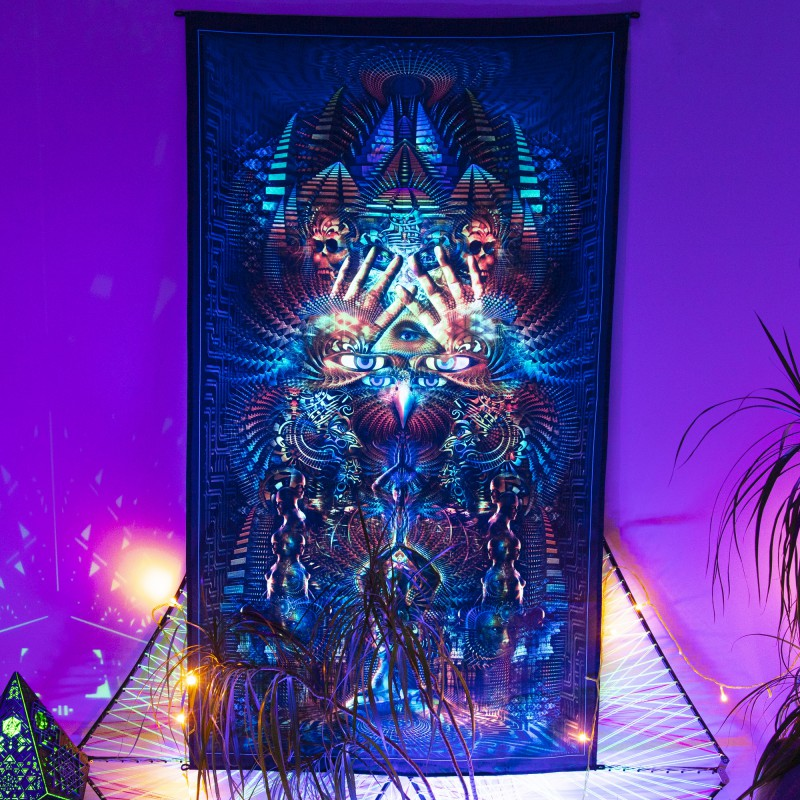 Mystical fluorescent tapestry «Petra»