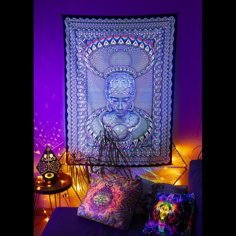 Glowing psychedelic art painting «Micro Macro»