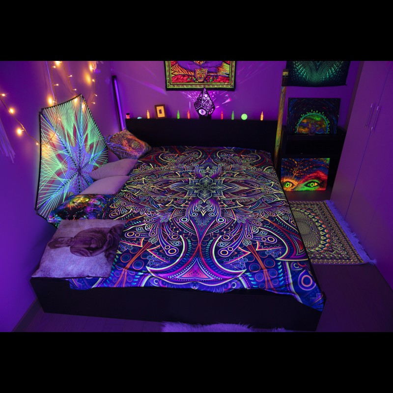 Trippy Coverlet Psychedelic Room Décor «Infinity Pattern»
