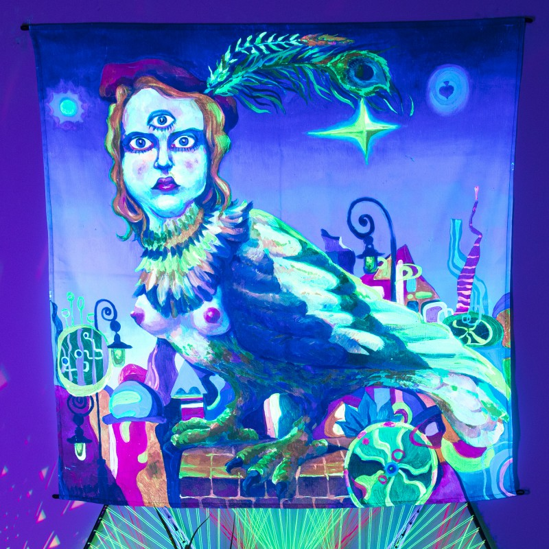 Psychedelic psychedelic banner «Sirius. A second before waking up»