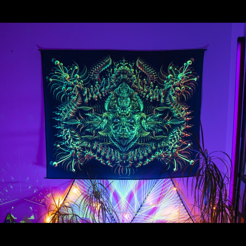 Psychedelic blacklight active painting «Suomi Spirit»