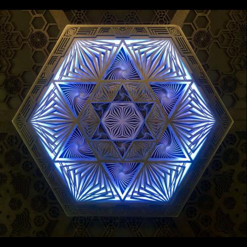 "Magic wall Multi Color lamp Geometric Light ""Magen"", 5 layers"
