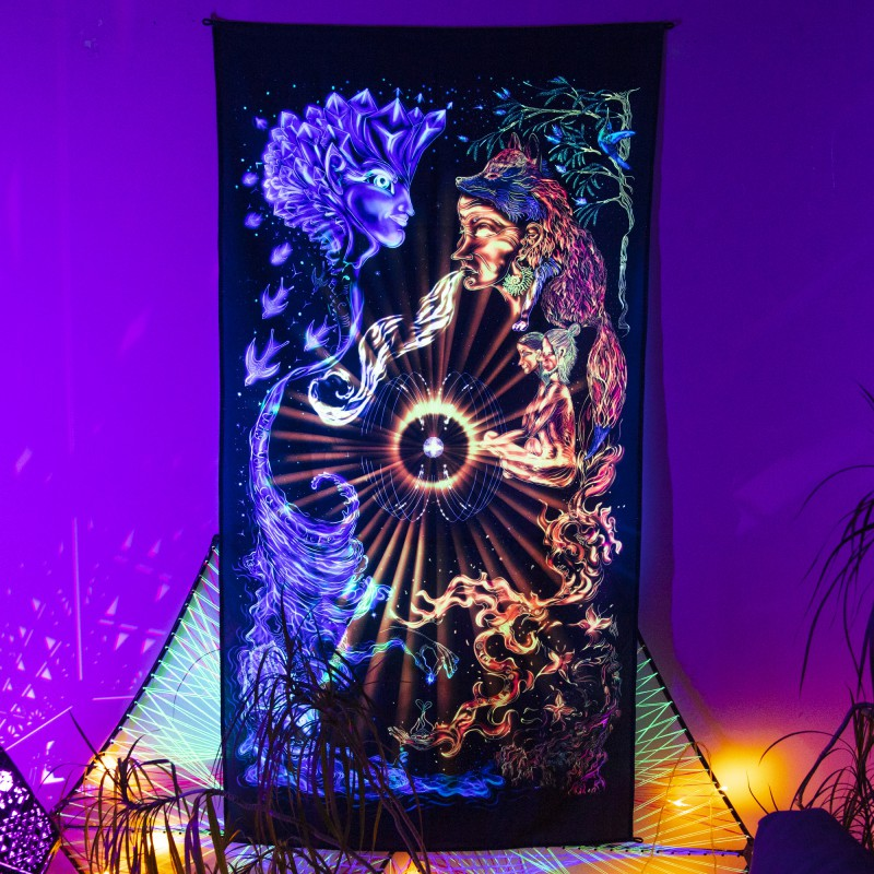 Psychedelic Hippie Home Decor «Burning Water»