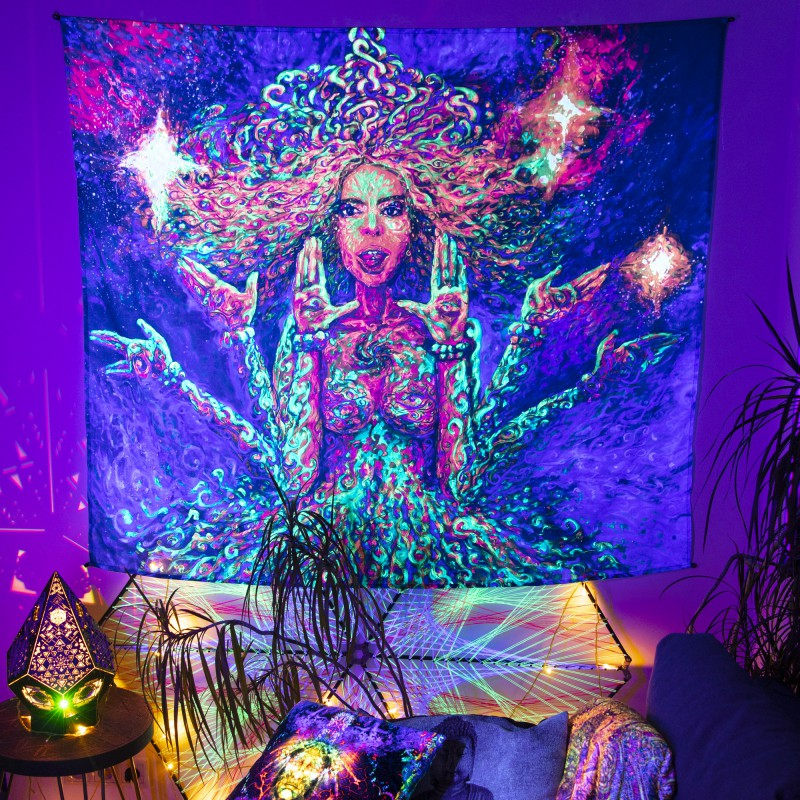 Psychedelic Boho Home Decor  «Padmamukhi»