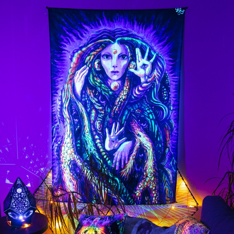 Fractal Art Print UV tapestry «Pristine savage»