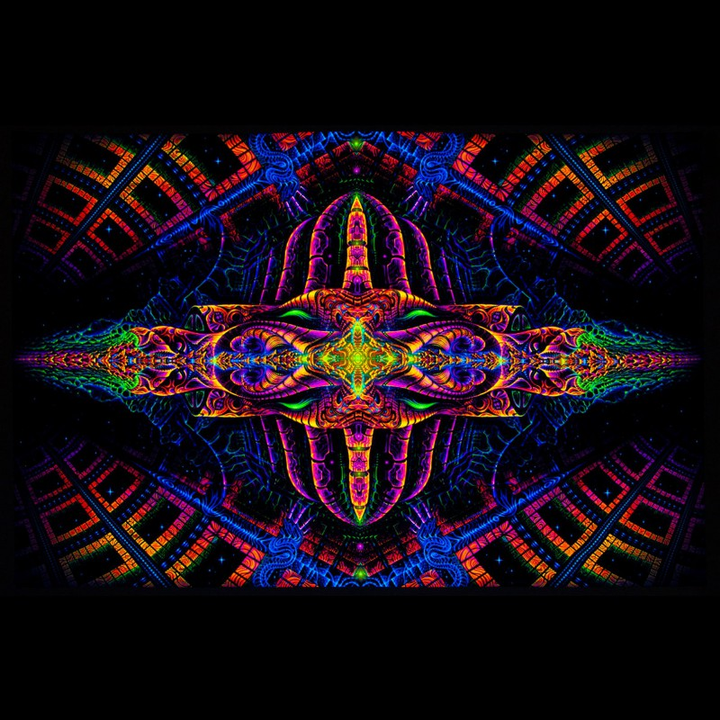 Trippy Blacklight Active Backdrop «Vajraforming»