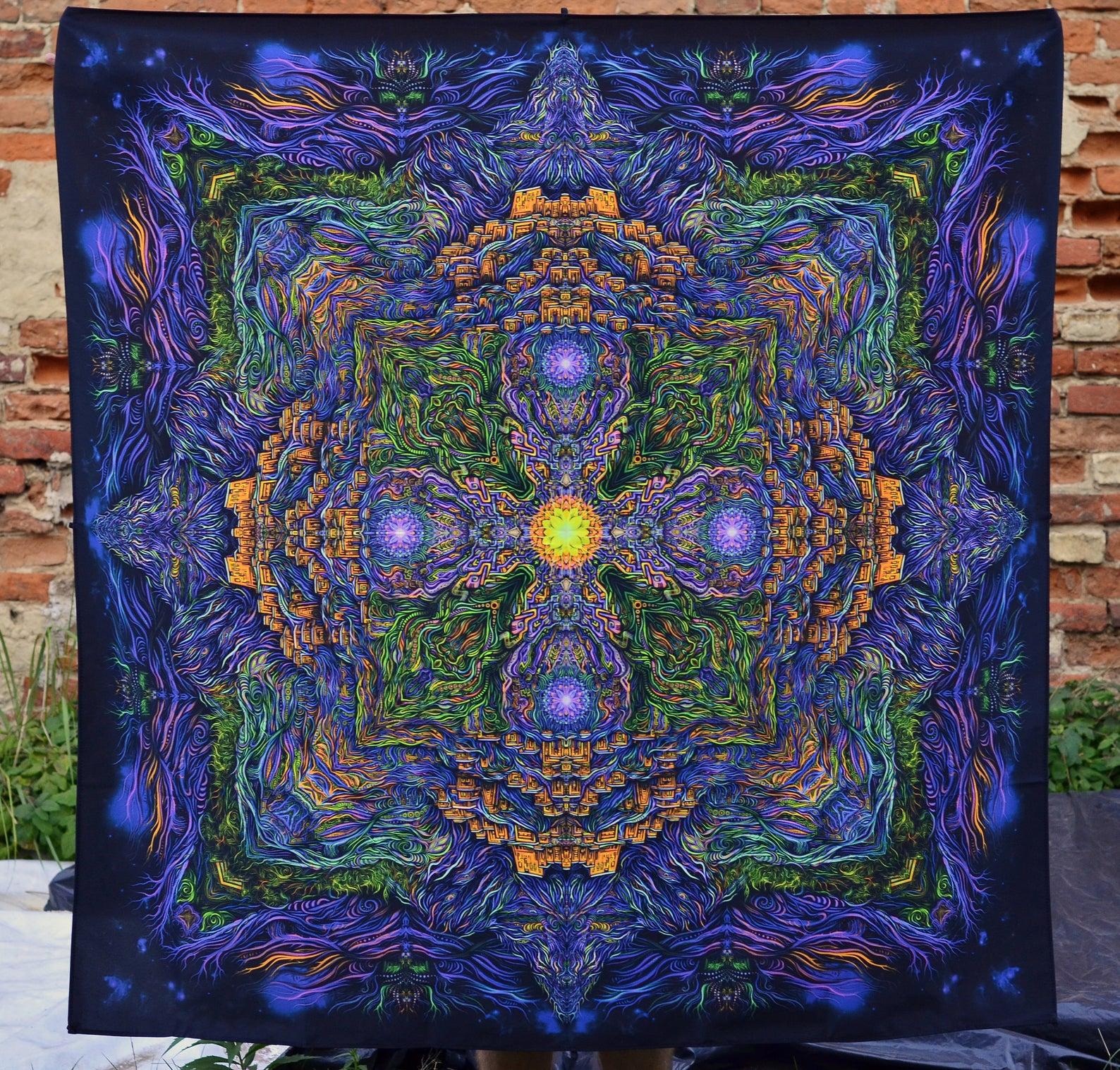 Mandala Meditation Tapestry «Key of Shambala»