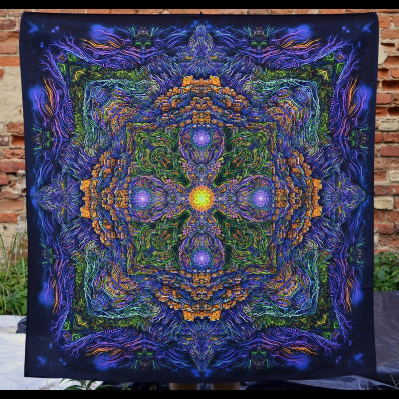 Mandala Meditation Tapestry «Key of Shambala»