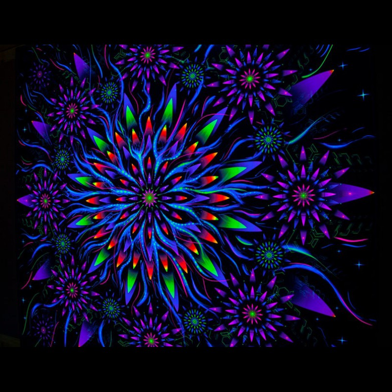 Mandala Yoga Tapestry «Flower of Space Energy»