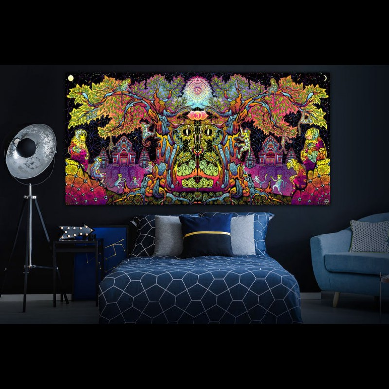 Trippy psychedelic backdrop «Hanuman»