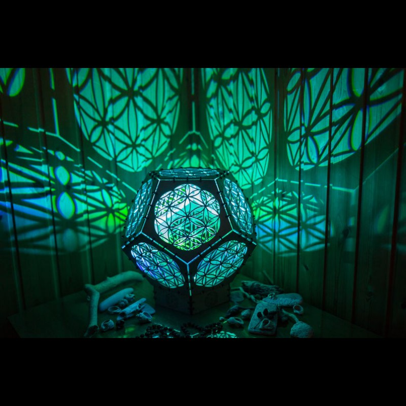 "Sacred Geometry room deco lamp ""Flower of life reincarnation"" night..."