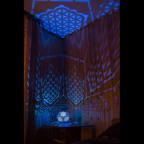 """Bohemian wooden LED lamp """"Flower of Life"""" night light"""