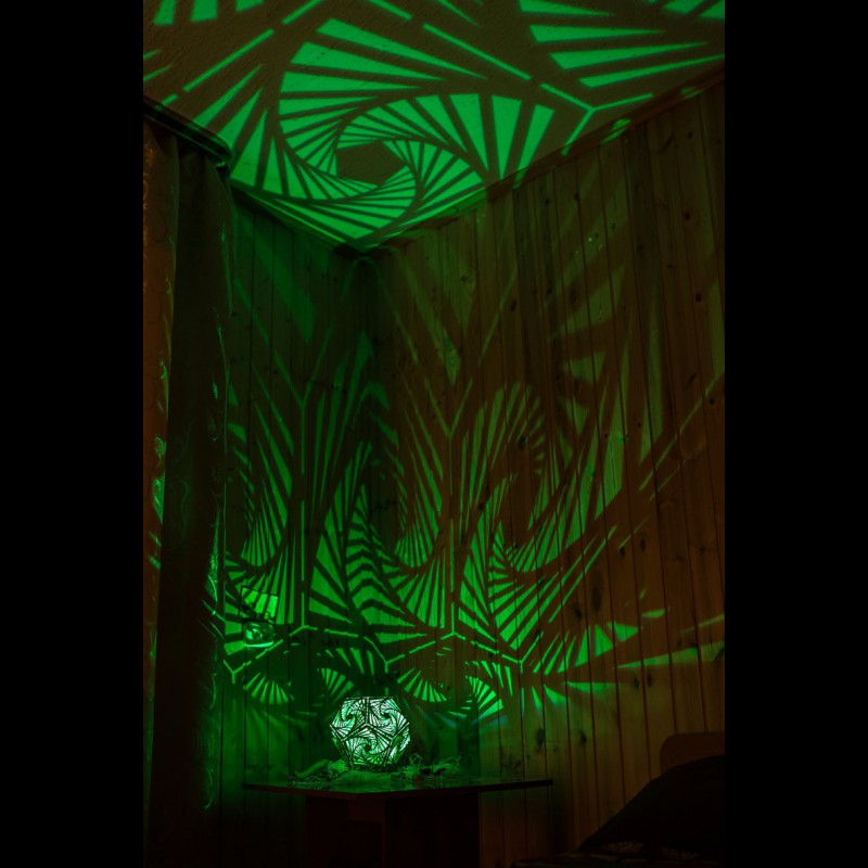 "Decorative wooden LED lamp ""Spiral"" night light"