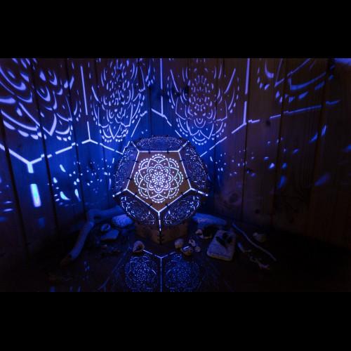 "Projection LED lamp for boho-interior ""Mandala"" night light"