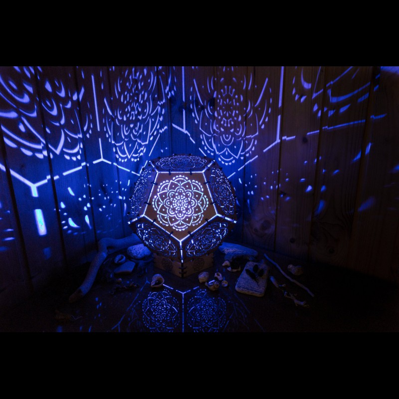 "Projection LED lamp for boho-interior ""Mandala"" night light"