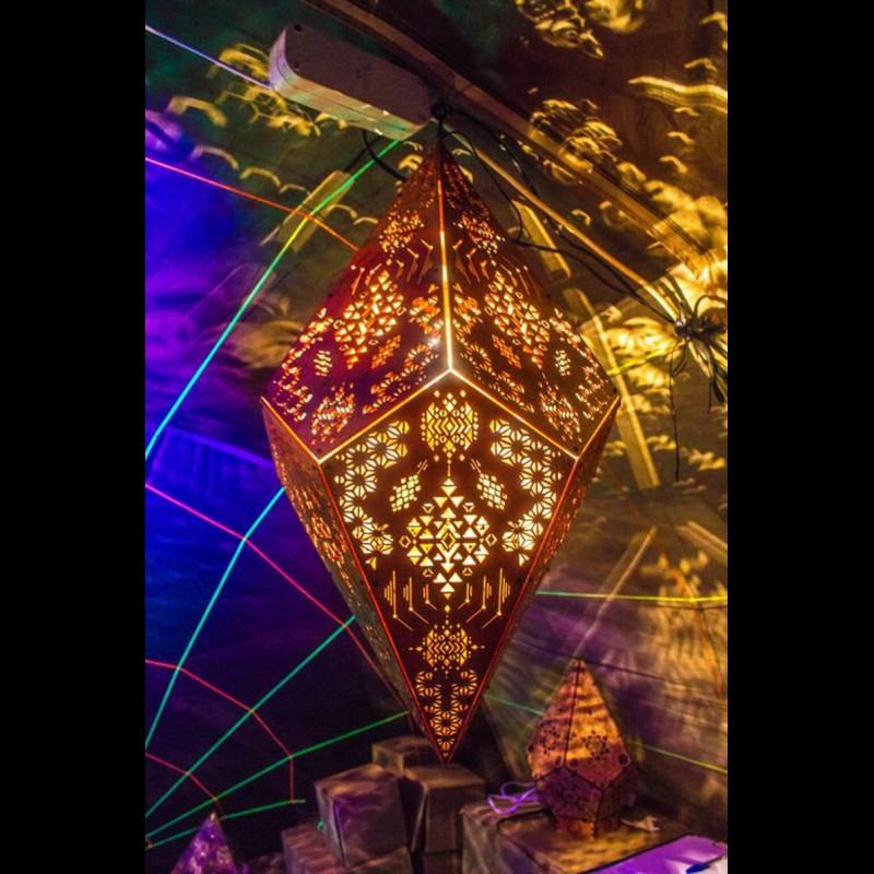"""Pendant Lamp """"Power of Spirits"""" psyhodelic decor night light"""