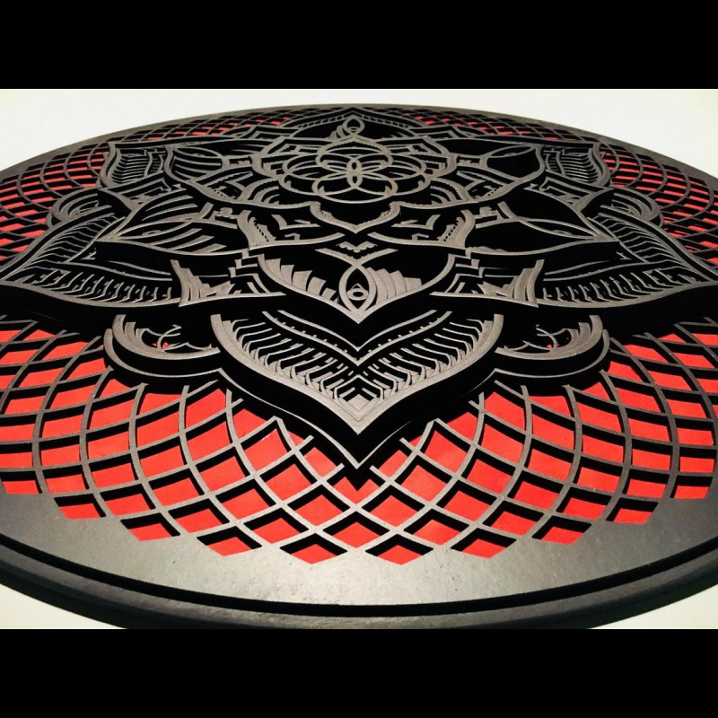 "Mandala Wall Wood Deco ""Flower of Life"" 13 layers"