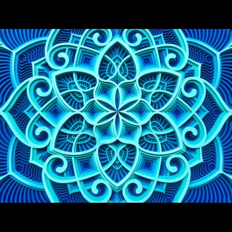 "Bohemian Wall Deco Mandala ""Ocean Waves"" 6 layers"