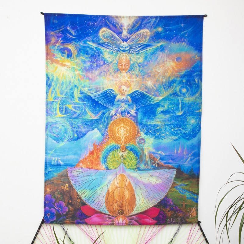 Esoteric tapestry UV Reactive «Picture of Power»