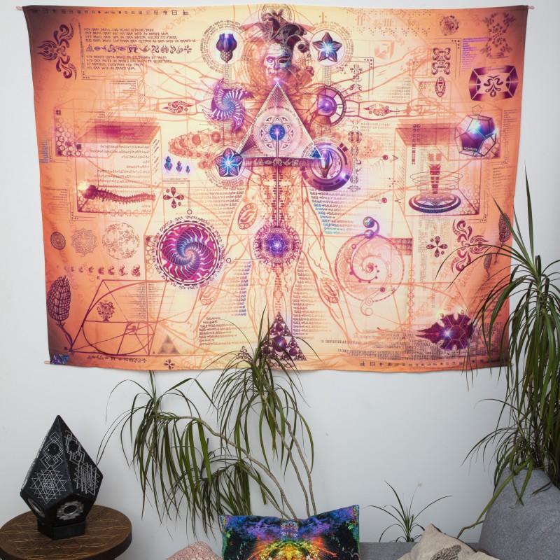 UV visionary esoteric tapestry «MANUSCRIPT 6 - Vehicular Dynamics»