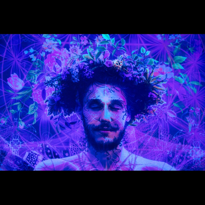 Fluorescent Esoteric UV Active Tapestry «Forest Soul»