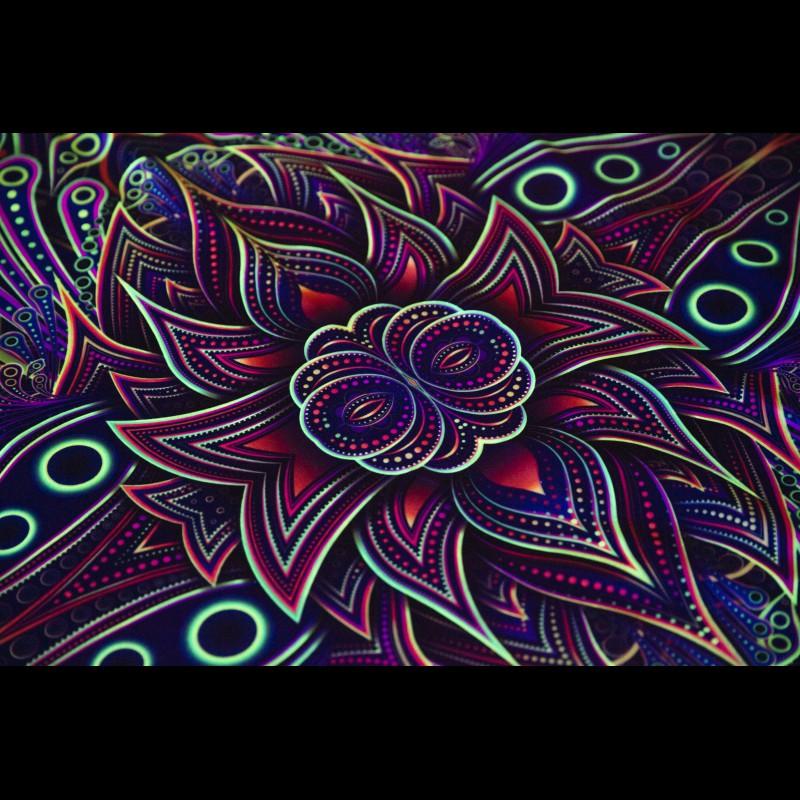 Hippie fleece blanket sacred geometry «Abyss»