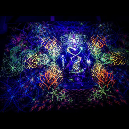 Psychedelic UV Reactive Wall Hanging «Revelation»